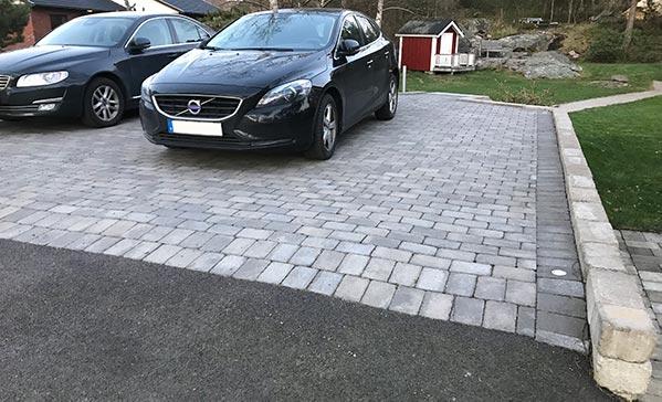 stensatt parkering efter stenspräckning