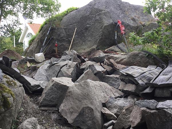 Berg efter stenspräckning